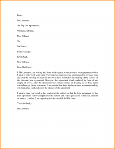 loan payoff letter personal letter template