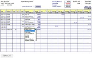 log sheet template cash book receipts