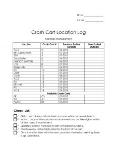 log sheet template crashcartlocationlog