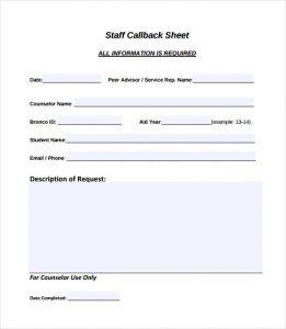 log sheet templates staff callback sheet pdf free download
