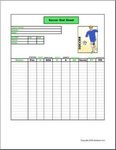 logging sheet template stat soccer p
