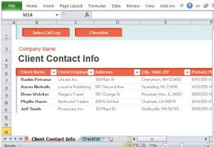 logging sheet template store important client contact information