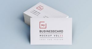 logo template psd business card mock up vol light branding psd