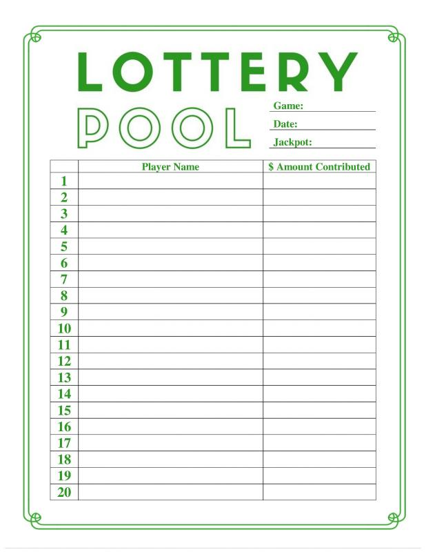 Lotto Pool