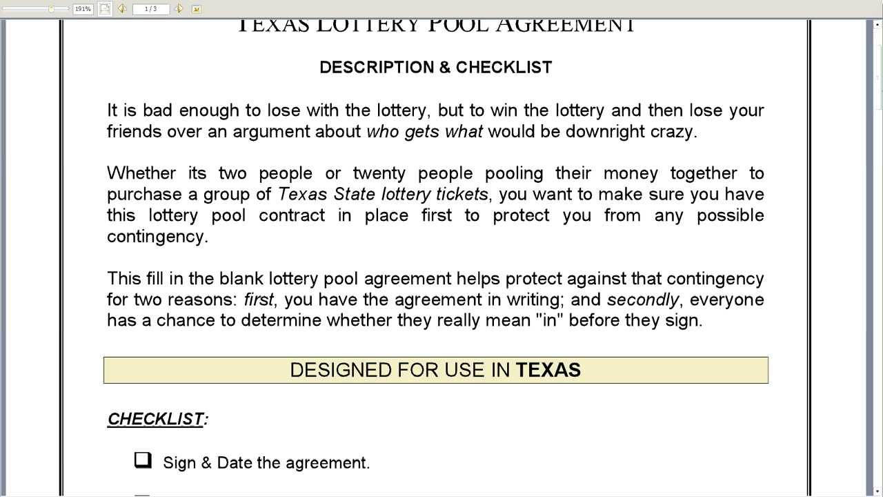 lottery pool contract