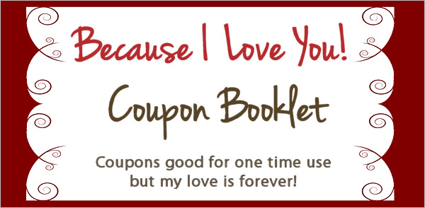 Love Coupon Template  Coupon Template Word