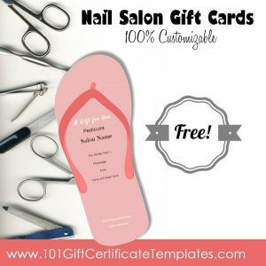 love coupon template nail salon gift cards