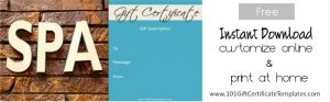 love coupon template spa gift certificate