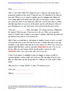 love letter format love letter format sample