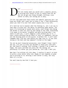 love letter format romantic love letter examples