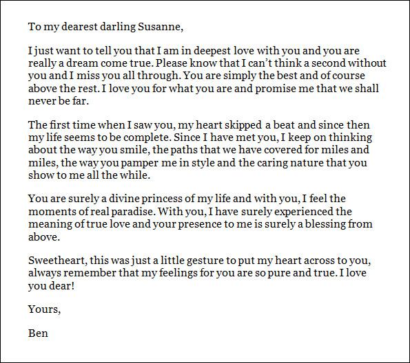 love letter format