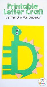 love letter template letter d dinosaur