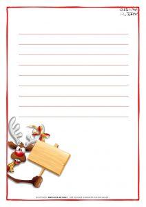 love letter template letter santa paper