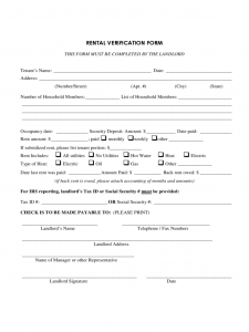 love letter template rental verification sample form d