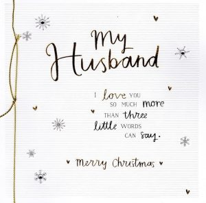 love letter to my husband a christmas card