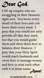 love letter to my husband prayer of the day finances