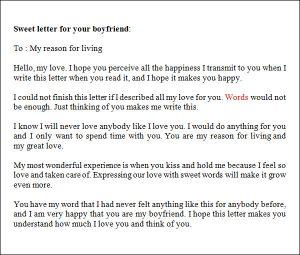 lover letter samples love letter to your boyfriend