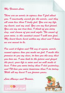 lover letter samples lovesove love letter