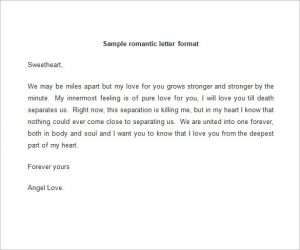 lover letter samples sample romantic love letter format