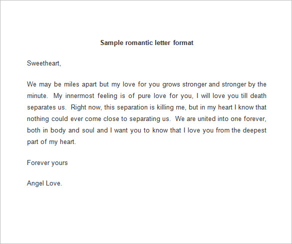 lover letter samples