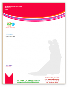 lover letter samples wedding and beauty letterhead template