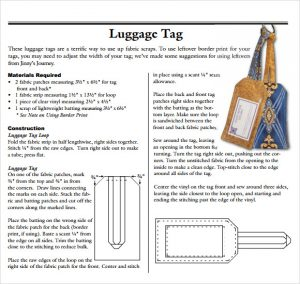 luggage tag template word luggage tag template free download