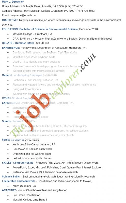 Ma Resumes Examples  Template Business