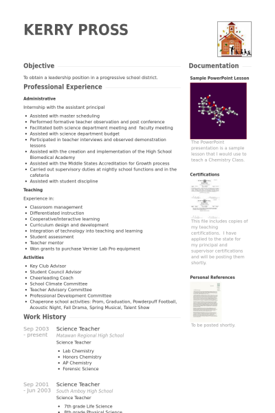 ma resumes examples