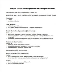 madeline hunter lesson plan example sample guided reading lesson plan format