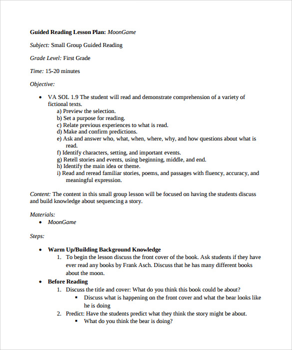 Madeline Hunter Lesson Plan Example Template Business - Small group reading lesson plan template