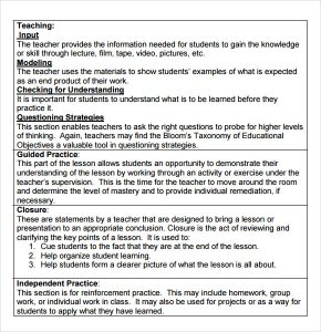 madeline hunter lesson plan template madeline hunter lesson plan template format