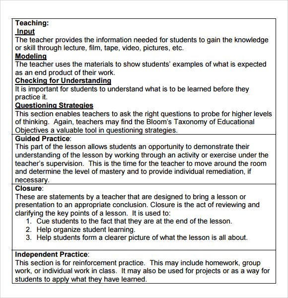 Free Lesson Plans for Teacher
