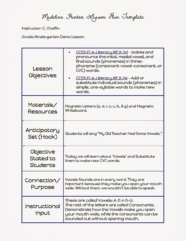 siop lesson plan templat