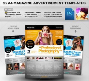 magazine ads template a magazine ad template