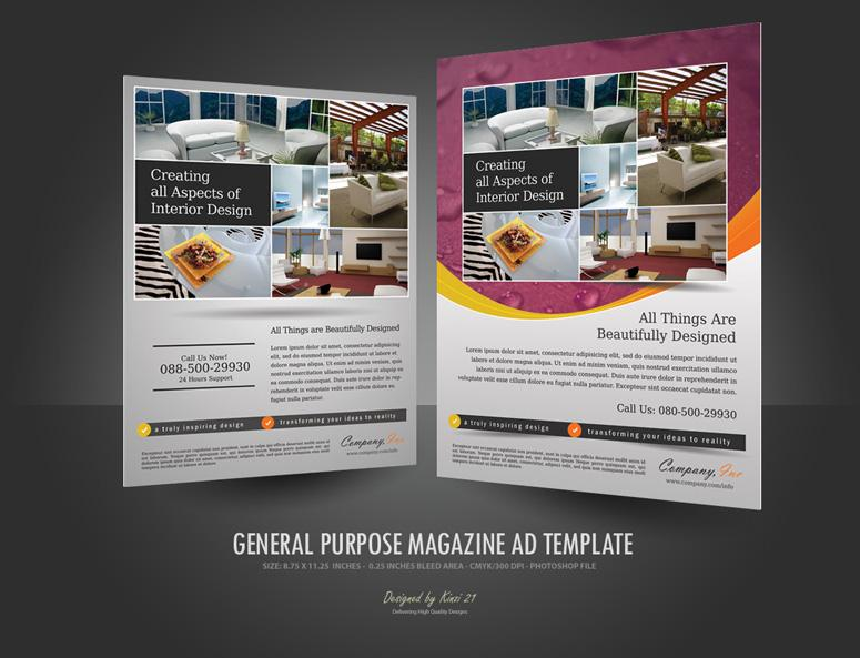magazine ads template
