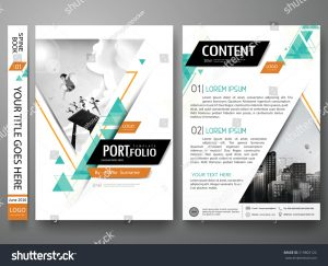 magazine advert templates stock vector portfolio design template vector minimal brochure report business flyers magazine poster abstract
