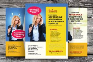 magazine advertisement templates creative market accounting and bookeeping flyers kinzi