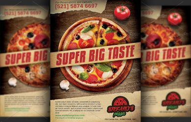 magazine advertisement templates pizza restaurant pizzeria advertising flyer template