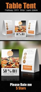 magazine advertisement templates restaurant table tent template by designhub ddck