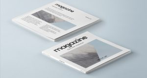magazine cover mockup magazine square brochure catalog book brand stationery pages cover mockup presentation psd