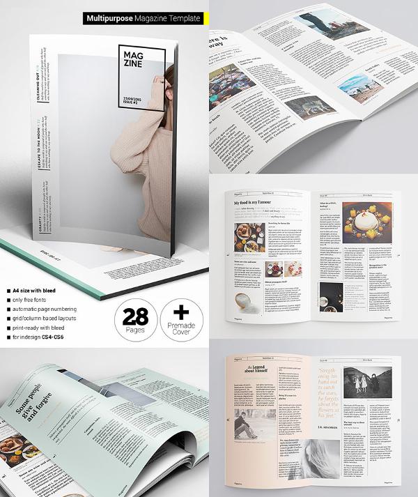 magazine cover template psd