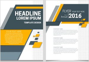 magazine cover templates annual report flyer template on abstract modern background