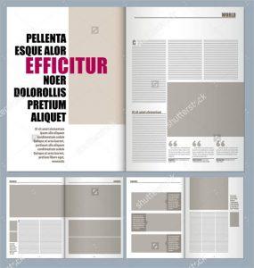 magazine layout template modern magazine layout template