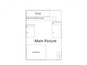 magazine layout template title template