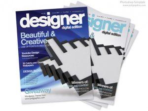 magazine template psd blue magazine cover design psd print template