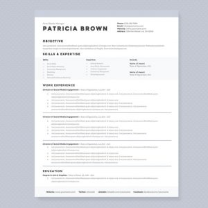 magazine template word social media manager resume template