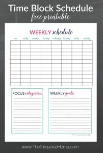 maintenance log template time block schedule free printable e