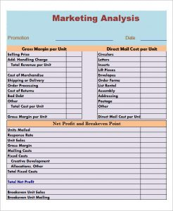 market analysis template industry analysis template