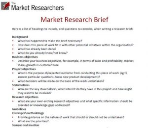 market research examples example market research brief