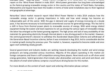market research examples market research report wind power market in india sample